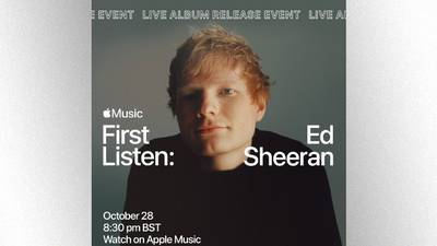 "Get a ""First Listen"" to Ed Sheeran's new album Thursday on Apple Music"