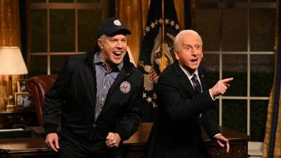 """Jason Sudeikis resurrects """"The Ghost of Biden Past"""" in 'SNL' hosting debut"""
